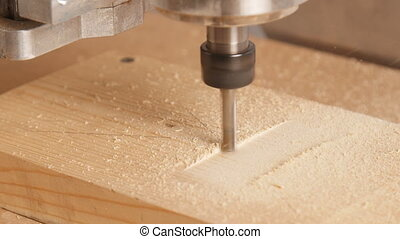Milling machine handles wood or Particle board