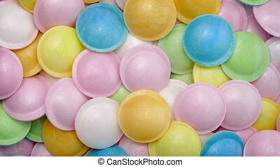 Candy UFOs Snack Rotating - UFO shaped candies turning...