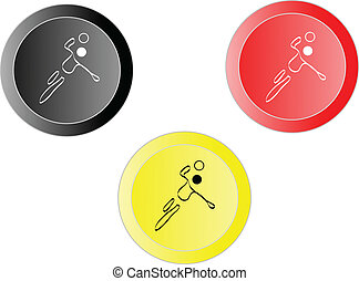 buttons of handball player