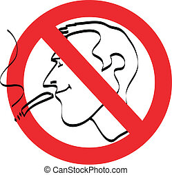 no smoke sign vector