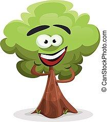 Funny Cartoon Tree Character