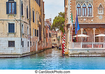 canal with buildings in Venice, Italy