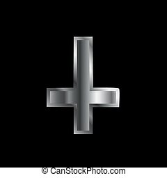 An inverted cross- The Cross of Saint Peter used as an...