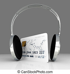 Audio Purchase - 3D rendered Illustration.