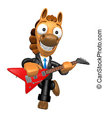 3D Horse has to be playing the electric guitar. 3D Animal...
