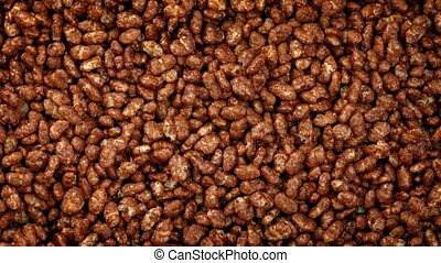 Chocolate Rice Puff Cereal Rotating - Chocolate rice puffs...