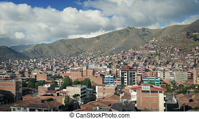 City Landscape In South America - Panoramic view of...