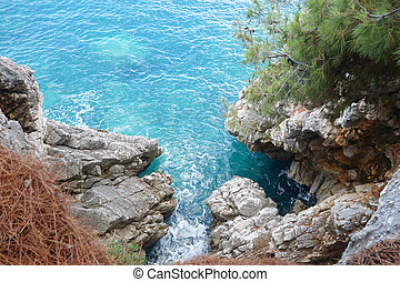 sea view - Sea view from a cliff