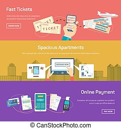 Online payment for flight tickets or apartment