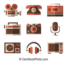 Retro and old, vintage items for entertainment