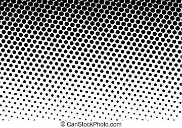 Ilustración, punteado, Puntos, patrón,  halftone, círculos,  vector, negro, Plano de fondo, cómico, blanco, fondo,  Retro