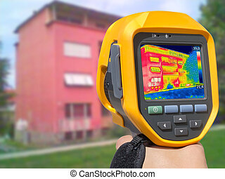 Recording Heat Loss at the Residential Building With...