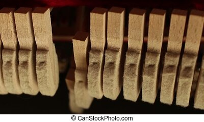 Pianos musical instrument inside - piano felt hammer...