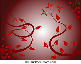 An abstract floral background ilustration