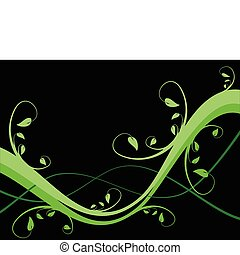 An abstract sytylized floral background