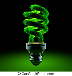 Green energy-saving lamp