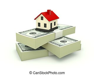 House on the stack of dollars