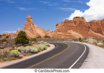 Arches National Park Road