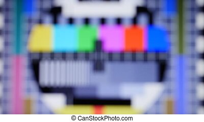 tv static noise color bars signal - tv static noise color...