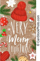 Poster a very merry christmas craft