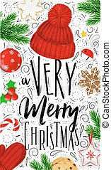 Poster a very merry christmas