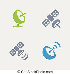 Satellite Broadcast - Granite Icons - A set of 4...