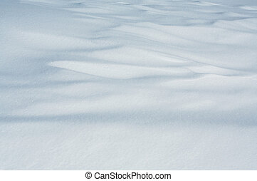 Drifted snow - Wind patterns in freshly drifted snow