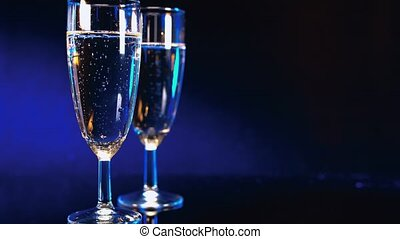 Champa´gne or sparkling wine - beautiful background