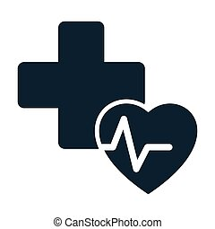 heart pulse medical plus icon