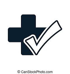 medical plus ok check icon