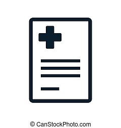 medical report blank icon on white background