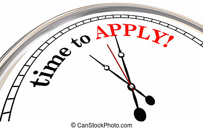 Time to Apply Clock Application 3d Illustration