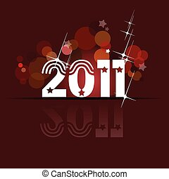 Abstract New Year background. Vect