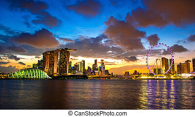 Lanscape of Singapore.