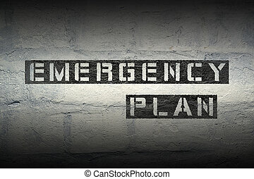 emergency plan gr - emergency plan stencil print on the...