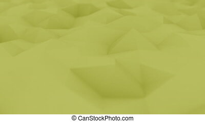 Polygonal yellow motion background. Loopable animation