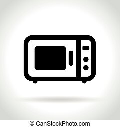 microwave oven icon on white background - Illustration of...