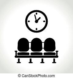 waiting room icon on white background - Illustration of...