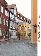 Downtown Hannover - Colourful Houses in Old Town Hanover...