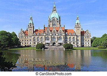 New City Hall Hanover - New Town Hall in Hanover Germany