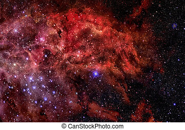 Abstract scientific background - galaxy and nebula in space....