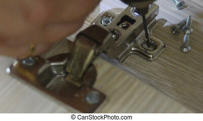 Assembling of furniture power tools - the process of...