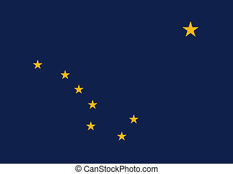 Alaska State Flag - Alaska state flag of America, isolated...