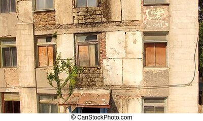 Old House With Blocked Windows