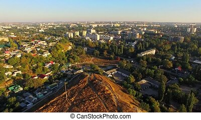 AERIAL VIEW. City Of Simferopol From Scythian Naples, Crimea...