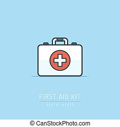 First Aid Kit - First aid kit vector icon illustration in...