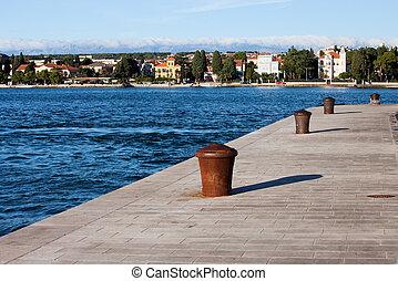 Zadar Waterfront - City of Zadar waterfront in Croatia