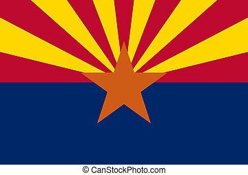 Arizona State flag - Arizona state flag of America, isolated...