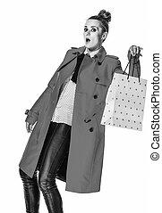 compras de mujer, actuación, moderno, amarillo, bolsa,...