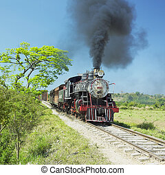 tourist train Valle de Los Ingenios, Sancti Spiritus...